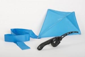 Black Castakite EZ Flyer (pre-strung) + Blue Kite