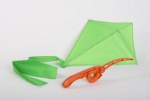 Orange Castakite EZ Flyer (pre-strung) + Lime Green Kite